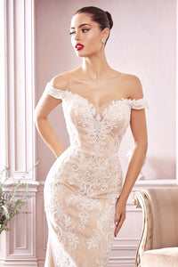 Bradley Wedding Dress Off the Shoulder Lace Bridal Gown C402THR SAMPLE IN STOCK