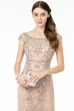 Load image into Gallery viewer, Catalina Wedding Dress Blush Flared Hem Art Deco Style Gown G2945TIR-Blush    SAMPLE IN STORE