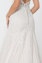Load image into Gallery viewer, Janine Wedding Dress Fit and Flare Low Back Gown G2821IRR-Ivory/Cream SAMPLE IN STORE