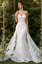 Load image into Gallery viewer, Eva Wedding Dress Sexy Strapless Beaded Lace Bridal Gown C046TTR-OffWhite