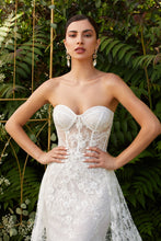 Load image into Gallery viewer, Eva Wedding Dress Sexy Strapless Beaded Lace Bridal Gown C046TTR-OffWhite SAMPLE IN STORE