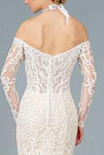 Load image into Gallery viewer, Fleur Wedding Dress Long Sleeve Flared Bridal Gown G1801HXR-Ivory/cream SAMPLE IN STORE