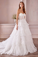 Load image into Gallery viewer, Jacinda Wedding Dress Strapless Bustier with Corset Back Bridal Gown AL1017IER-White