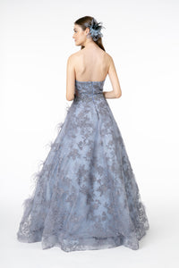 Kendell Formal Gown Periwinkle Strapless Ballgown G1834TAR-Lavender  SAMPLE IN STORE