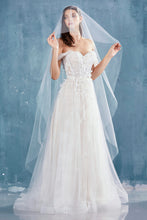 Load image into Gallery viewer, Lovebirds Wedding Dress Beaded Off the Shoulder Bridal Gown AL