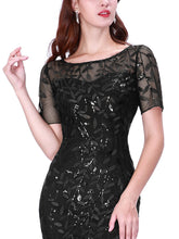 Load image into Gallery viewer, Magnolia Formal Dress in Black Mermaid Gown E7707HK-Black SAMPLE IN STORE