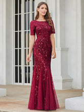 Load image into Gallery viewer, Magnolia Formal Dress in Burgundy Mermaid Gown  E7707HK-Burgundy SAMPLE IN STORE