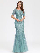 Load image into Gallery viewer, Magnolia Formal Dress in Seafoam Mermaid Gown E7707HK-Seafoam