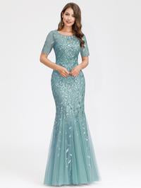 Magnolia Formal Dress in Seafoam Mermaid Gown E7707HK-Seafoam