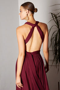 MaryLee Bridesmaid Dress in Burgundy Convertible Top MaryLee-C-CVO1PHX-Burgundy