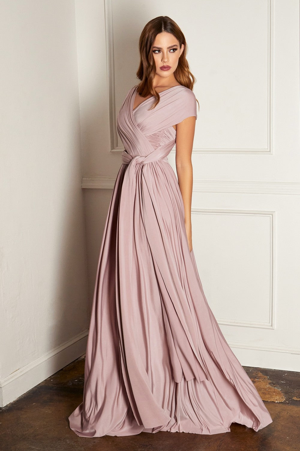 MaryLee Bridesmaid Dress in Mauve Convertible Top MaryLee-C-CVO1PHX-Mauve