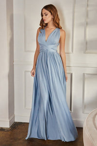 MaryLee Bridesmaid Dress in Paris Blue Convertible Top MaryLee-C-CVO1PHX-ParisBlue