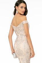 Load image into Gallery viewer, Miranda Wedding Dress Off the Shoulder Mermaid Gown G2922ER-Champagne SAMPLE IN STORE