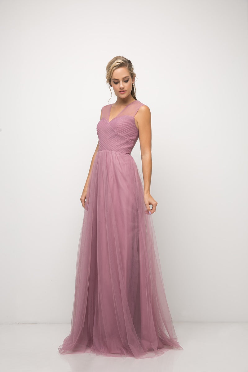 Olivia Pleated Bodice Aline Skirt Bridesmaid Dress in Orchid  C320NK-Orchid  SAMPLE IN STORE