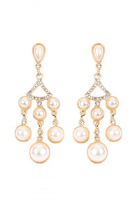 Pearl Chandelier Earring in Gold