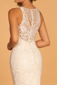 Ramona Wedding Dress High Neck and Back Lace Bridal Gown G2597IRR-Ivory