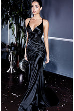 Load image into Gallery viewer, Renee Sexy Satin Bridesmaid Dress in Black C236KK-Black
