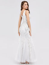 Load image into Gallery viewer, Rosa Wedding Dress White Sleeveless Mermaid Gown E7886HK-White SAMPLE IN STORE