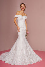 Load image into Gallery viewer, Ruby Wedding Dress Off the Shoulder Mermaid Bridal Gown G2594IKR-Ivory/Cream