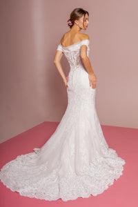 Ruby Wedding Dress Off the Shoulder Mermaid Bridal Gown G2594IKR-Ivory/Cream