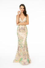Load image into Gallery viewer, Thea Wedding Dress Fitted Champagne Gown with Iridescent Sequins G1845WR-Champagne  SAMPLE IN STORE