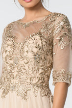 Load image into Gallery viewer, Vera Mothers Dress Half Sleeve Embroidered Top in Champagne G2812XR-Champagne SAMPLE IN STORE