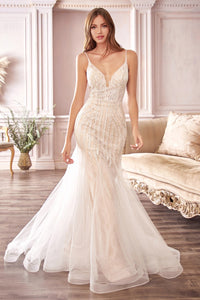 Wallace Wedding Dress Beaded Mermaid Bridal Gown C401TTR SAMPLE IN STORE