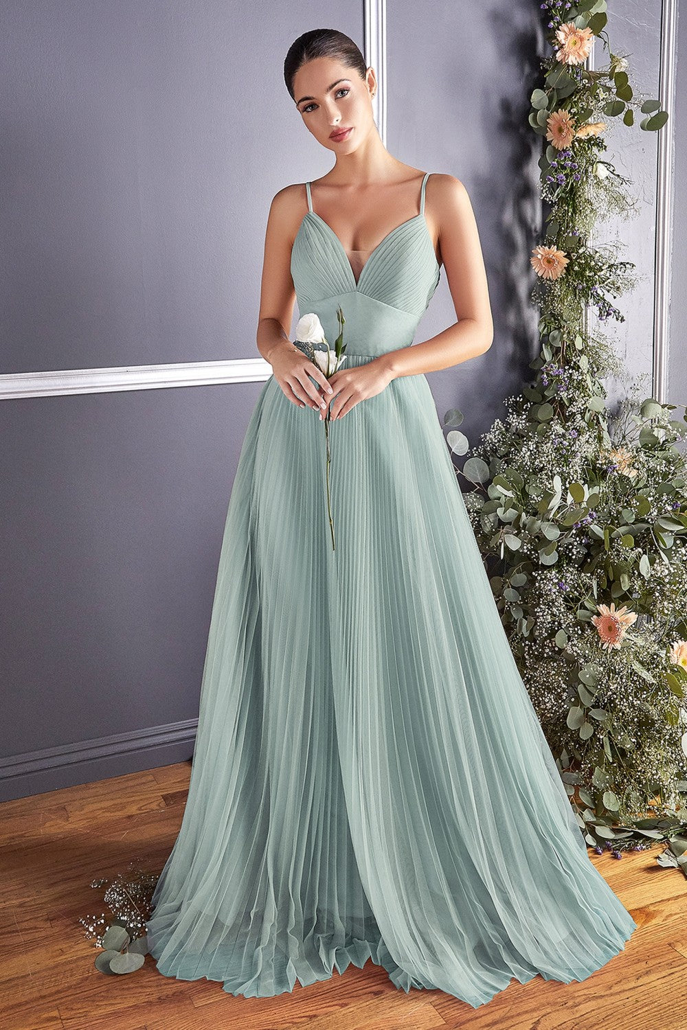 Dahlia Bridesmaid Full Tulle Skirt in Sage Green C184KR-SageGreen   SAMPLE IN STORE