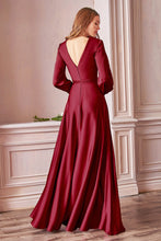 Load image into Gallery viewer, Doreen Long Sleeve Bridesmaid Dress in Burgundy Doreen C7475KK-Burgundy