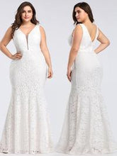 Load image into Gallery viewer, Madison All Lace Sleeveless Wedding Dress E-8838IR  SAMPLE IN STORE