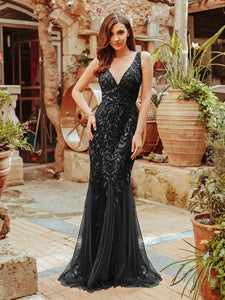 Rosa Dress in Black Sleeveless Mermaid Gown E7886HE-Black  SAMPLE IN STORE