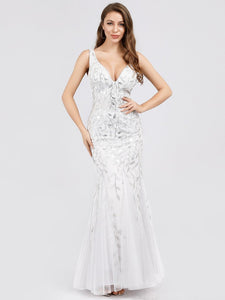 Rosa Wedding Dress White Sleeveless Mermaid Gown E7886HK-White SAMPLE IN STORE