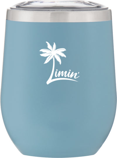 Bright colorful wine steamless tumbler for beach and lake