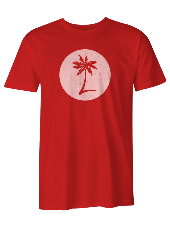 Men's Palm Logo Tee - Nautical Red