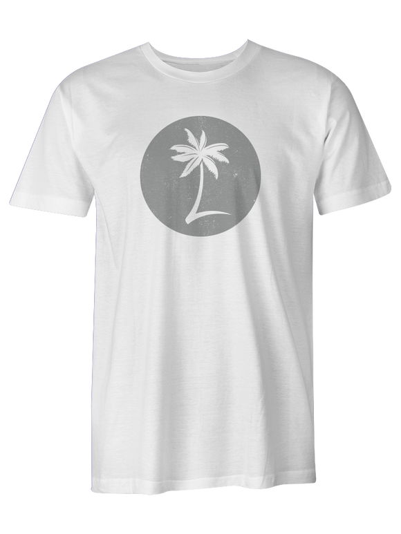 Men's Palm Logo Tee - Sand White
