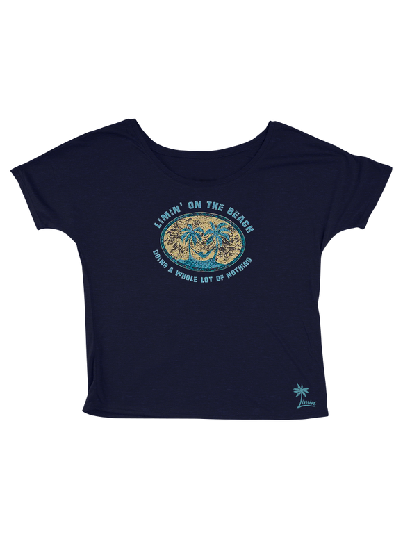Ladies Limin' on the Beach - Nautical Navy