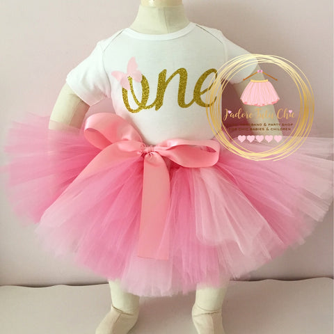 Butterfly birthday tutu outfit