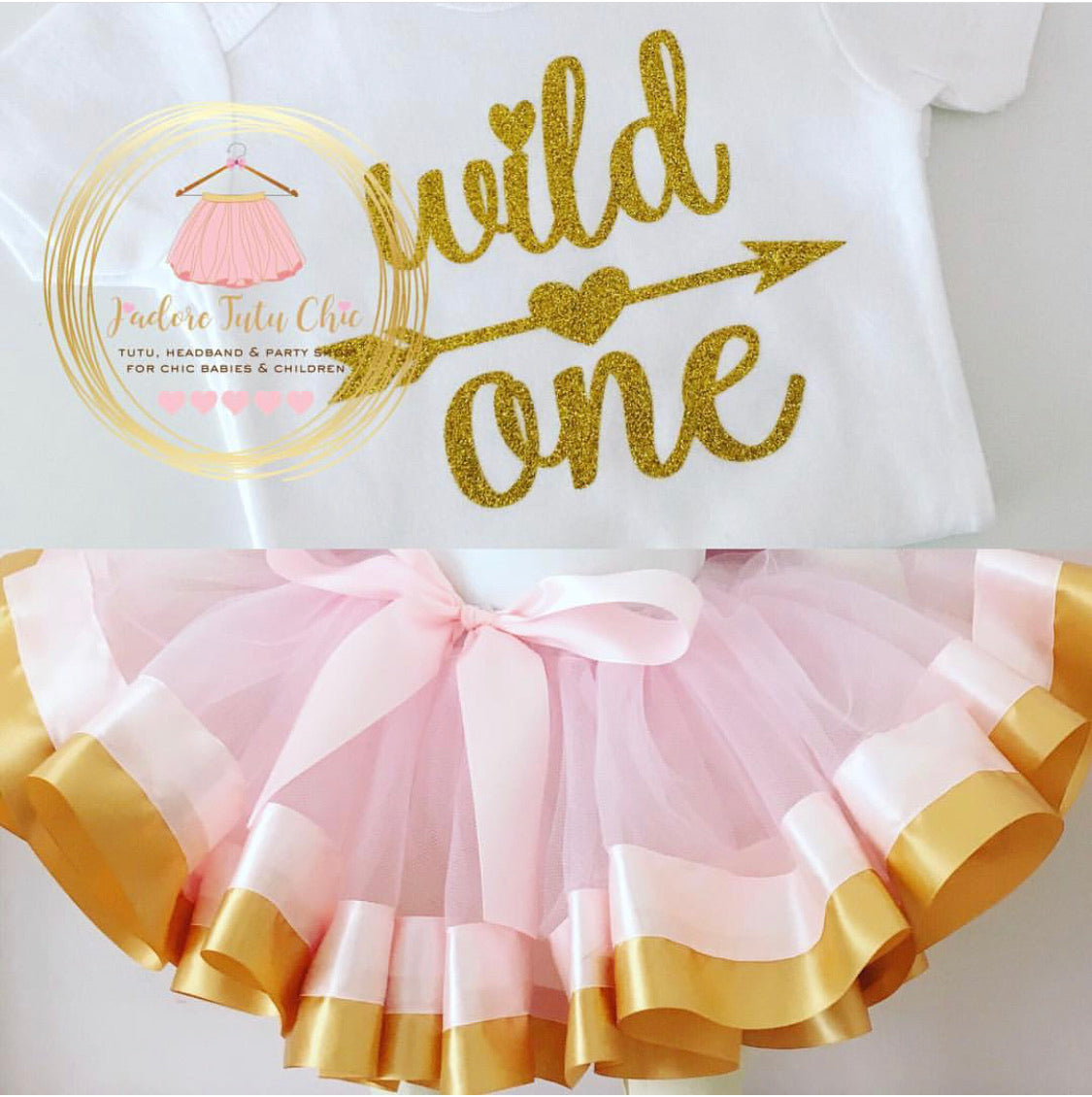 Wild one birthday tutu outfit