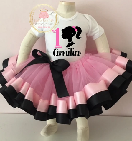 Barbie birthday outfit, Barbie birthday dress, Barbie tutu set