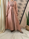 Lace Inset Aline Maxi Dress