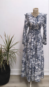 Forest Print Tier Maxi Dress