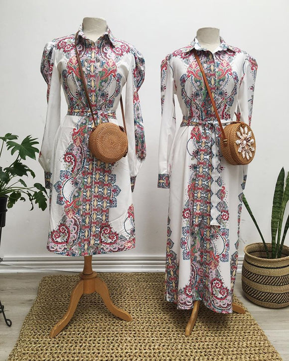 Paisley Shirt Maxi Dress