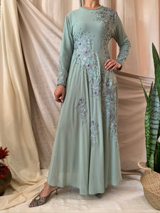 Beaded Chiffon Empire Maxi