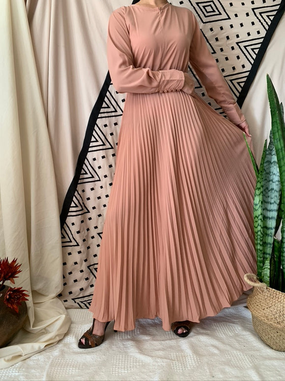 Aline Pleated Maxi Dress