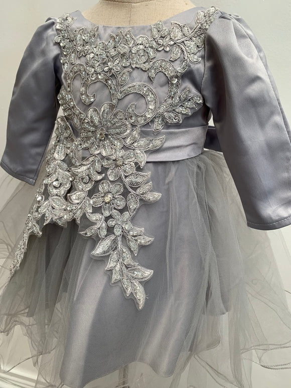 Embossed Flower Tulle Dress