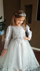 Crystal Beaded Tulle Dress