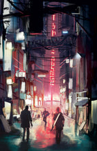 Load image into Gallery viewer, the veil cyberpunk rpg alleyway