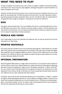 uncanny echo rpg first page
