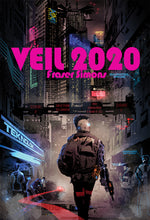 Load image into Gallery viewer, Veil 2020: Minimalist Cyberpunk Action Roleplaying (Physical Book+Digital PDF Combo)
