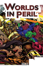 Load image into Gallery viewer, worlds in peril superhero rpg cover